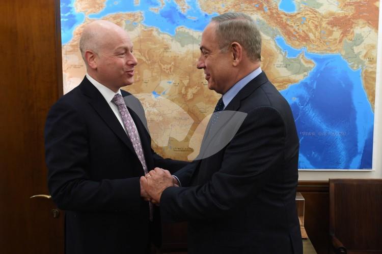PM Netanyahu and Jason Greenblatt