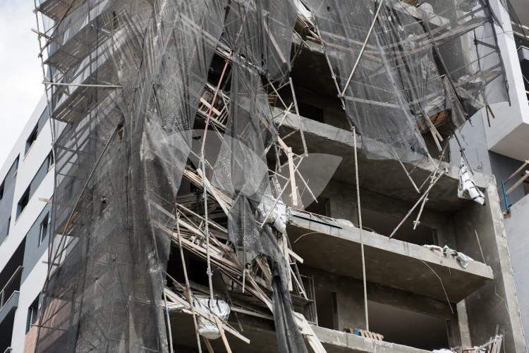 Scaffolding collapse in Ramat Gan
