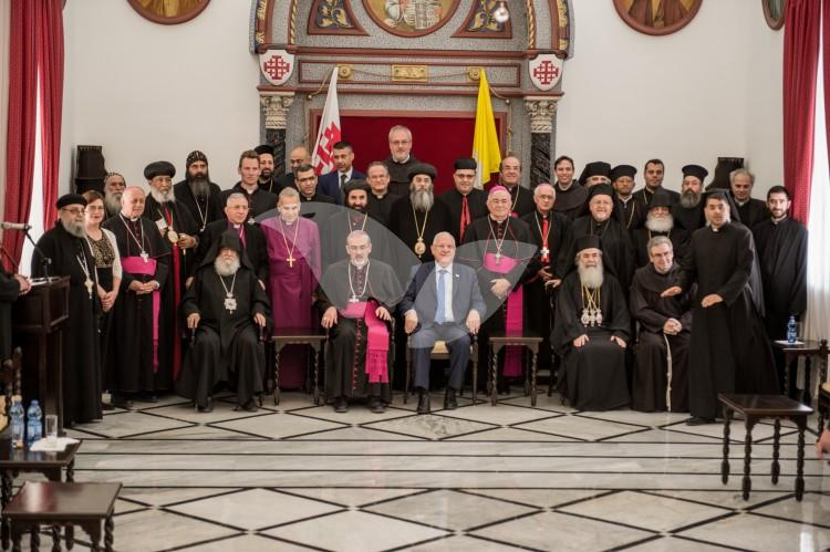 President Reuven Rivlin at the Latin Patriarchate 19.4.2017