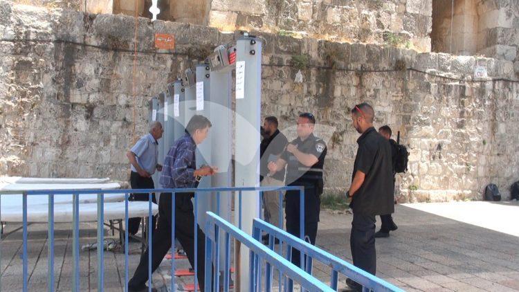 Metal detectors outside Temple Mount