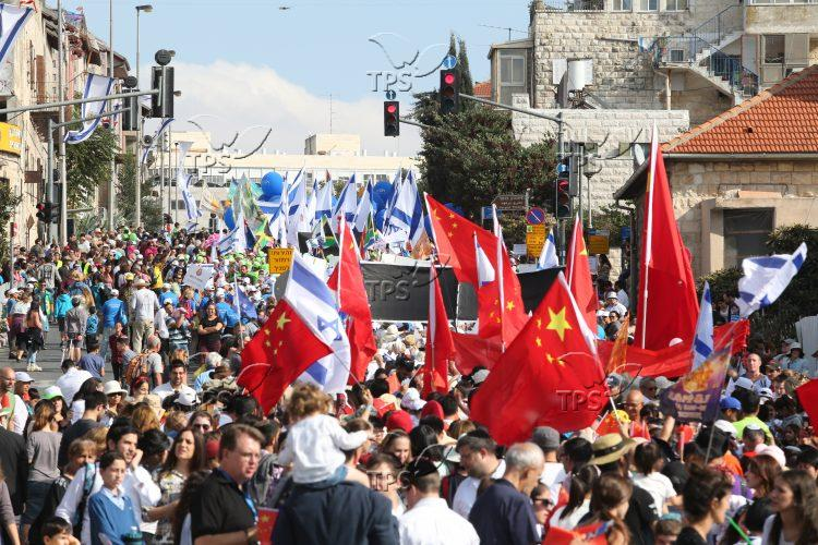 Christian groups at Jerusalem March