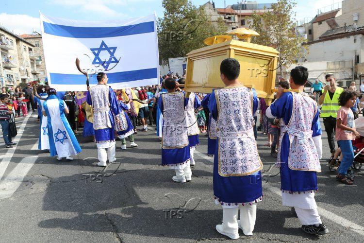 Christian groups at Jerusalem March