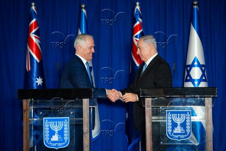 Australian PM Malcolm Turnbull visit to Israel
