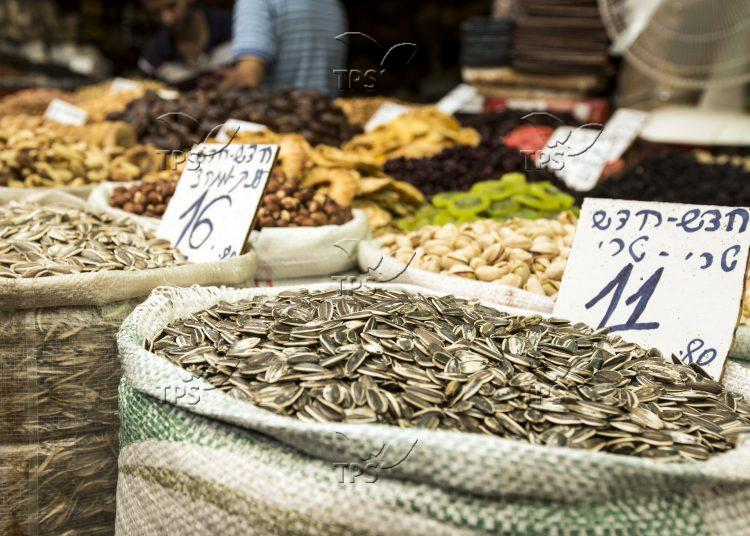 Seeds and Dry Fruit stand at Mahane Yehuda Market