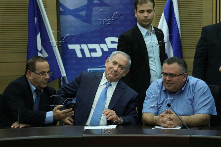 MKs Ayoob Kara, David Bitan and PM Benjamin Netanyahu