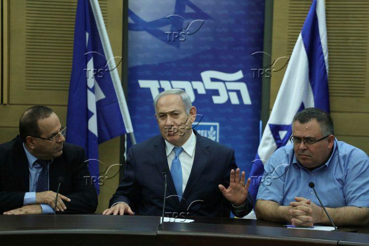 MKs Ayoob Kara, David Bitan and PM Benjamin Netanyahu