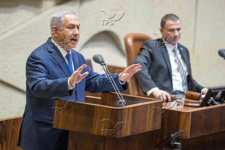 An assembly in the Knesset regarding early elections