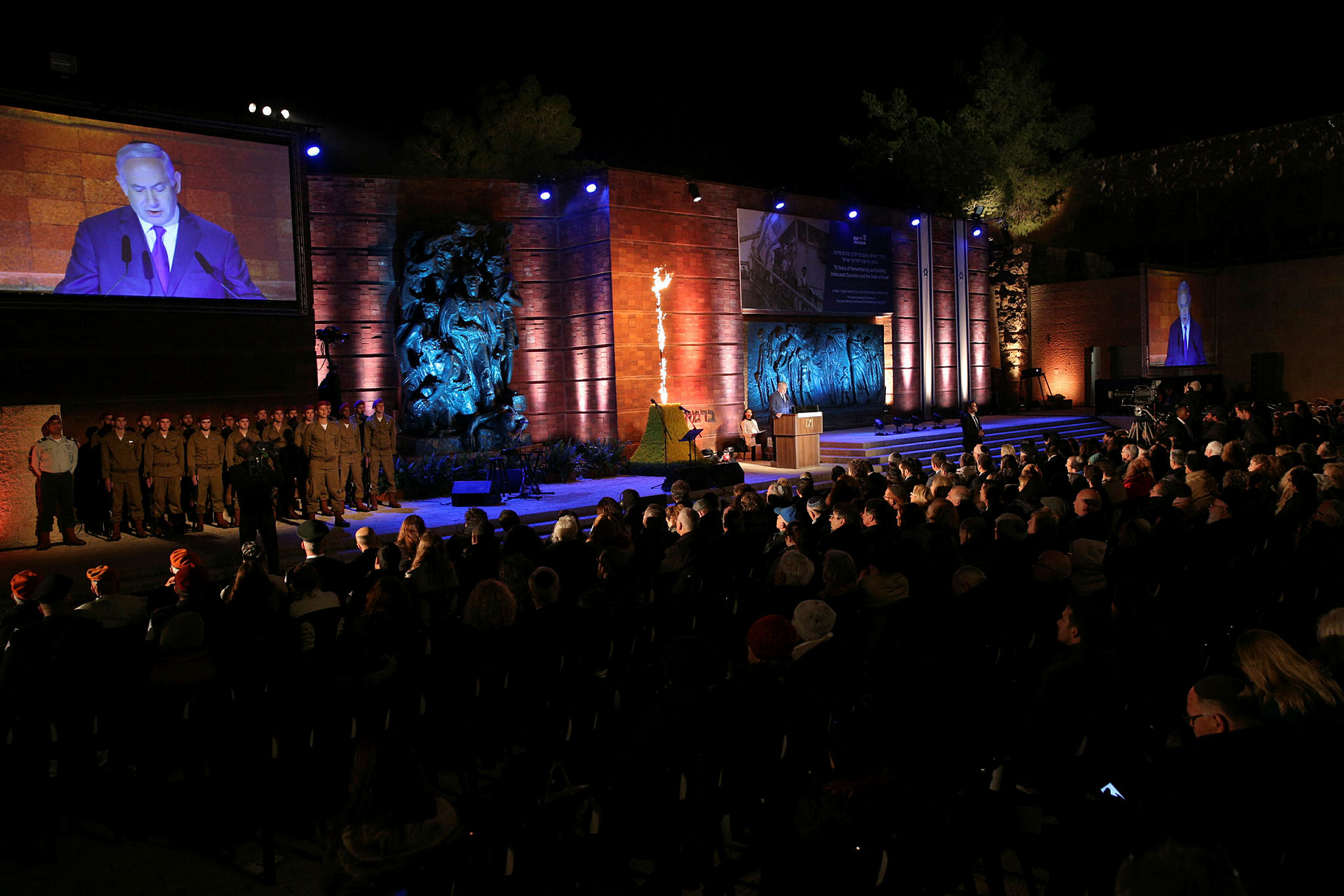 The Holocaust Memorial Day Ceremony in Yad Vashem