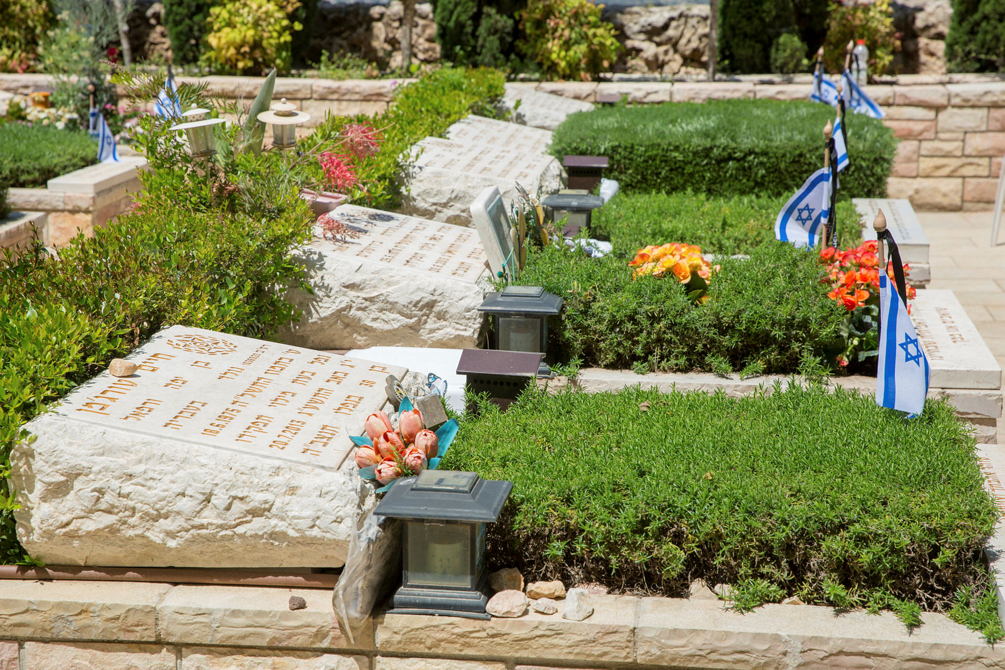 The Military Cemetery at Mount Herzl towards Memorial Day