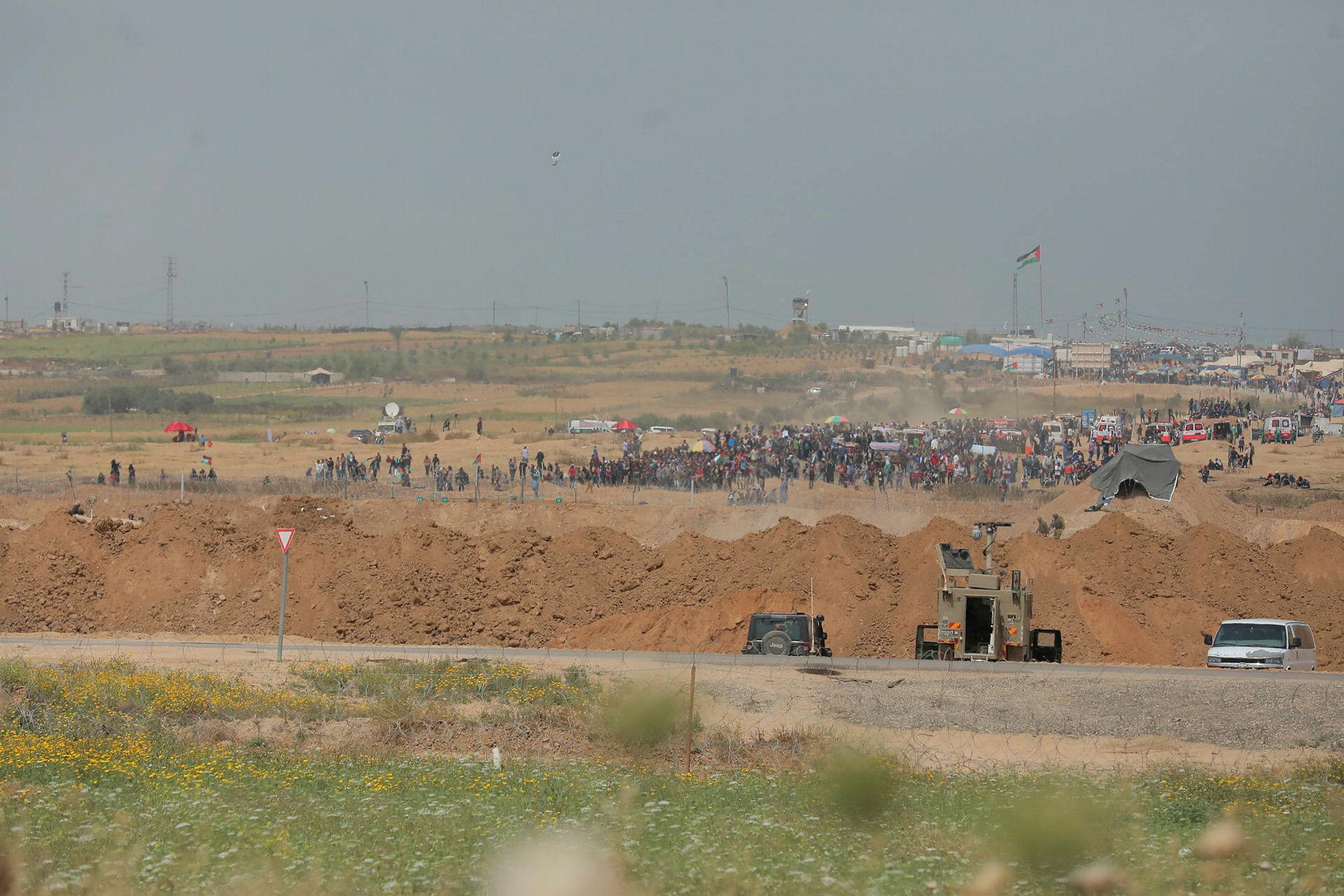 Alertness on the border of Gaza and Israel