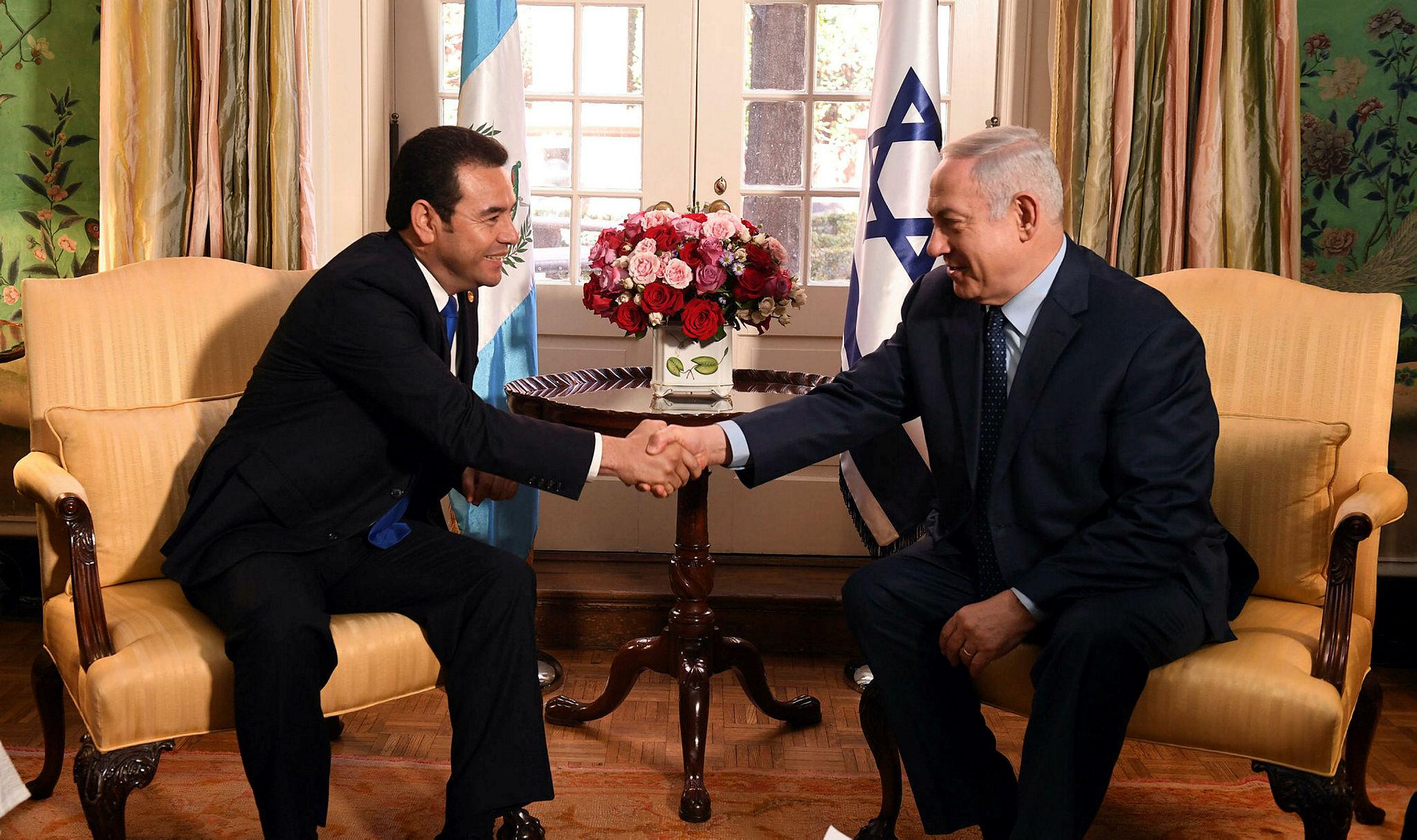 PM Benjamin Netanyahu meets Jimmy Morales, Guatemala's President
