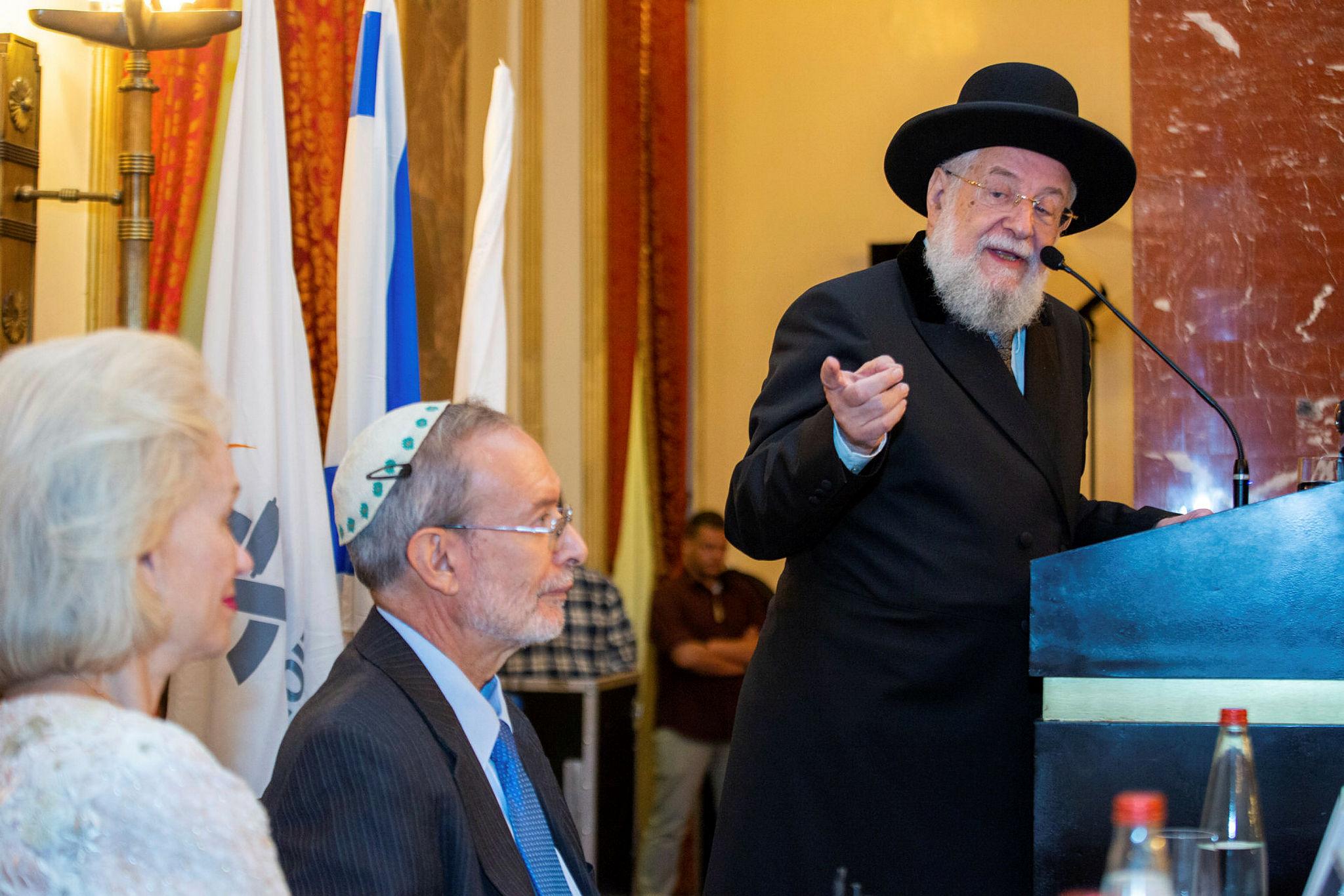 2018 Shomer Zion Award Goes to Rabbi Israel Meir Lau