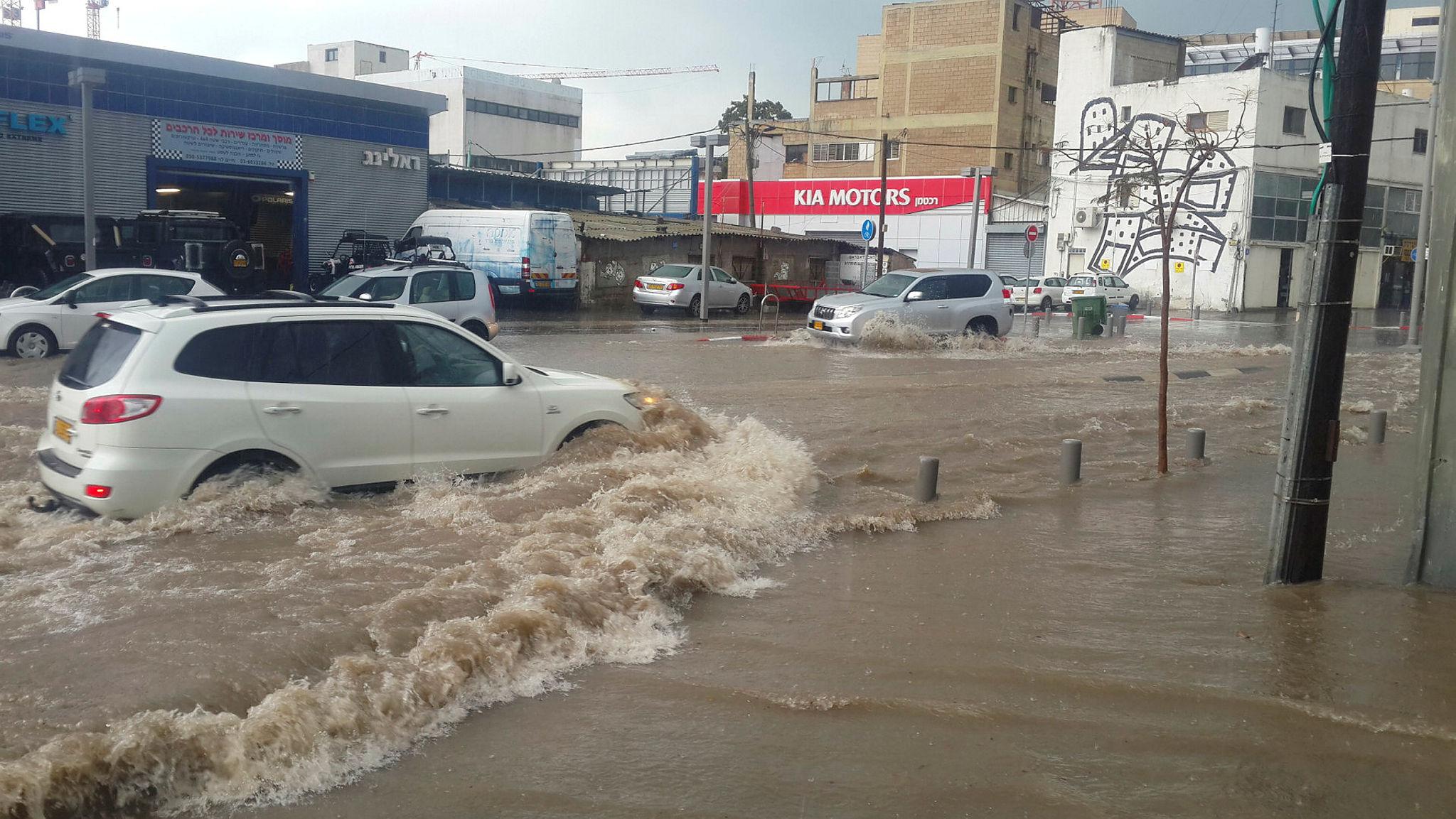 Flood in Tel Aviv