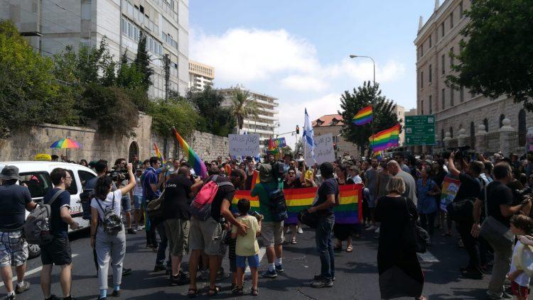 LGBT Demonstration in Downtown Jerusalem