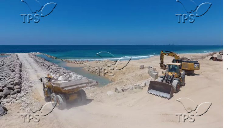 Construction of sea barrier between Israel and Gaza Strip