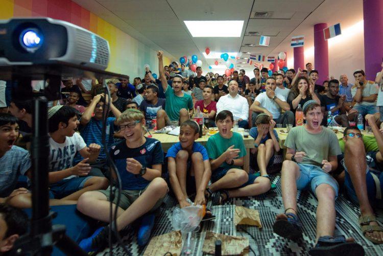Sderot Children Watching FIFA World Cup Final Match