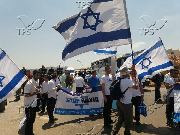 Right-wing group marches in Arab town