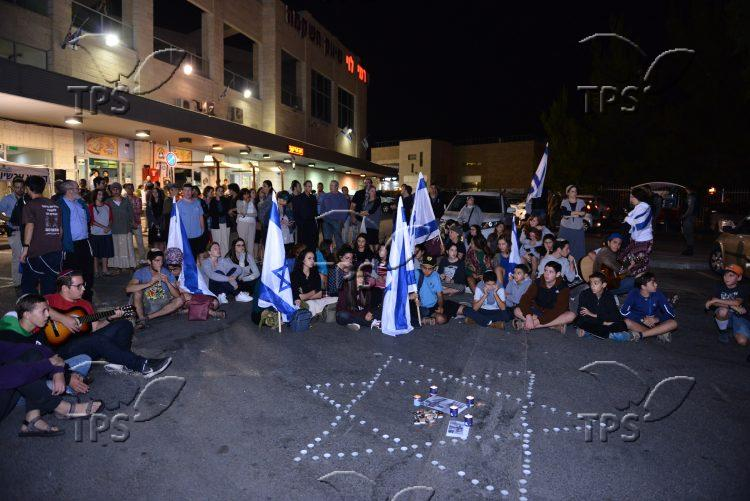 Youth gather at Gush Etzion Junction in memory of terror victim