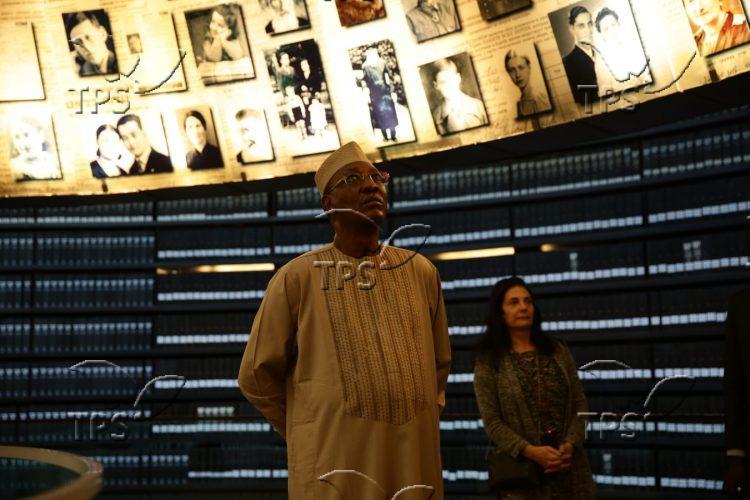 Chadian President at Yad Vashem
