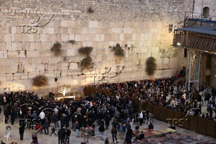 Chanukah at the Western Wall