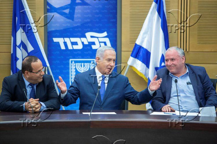 Likud faction meeting in the Knesset