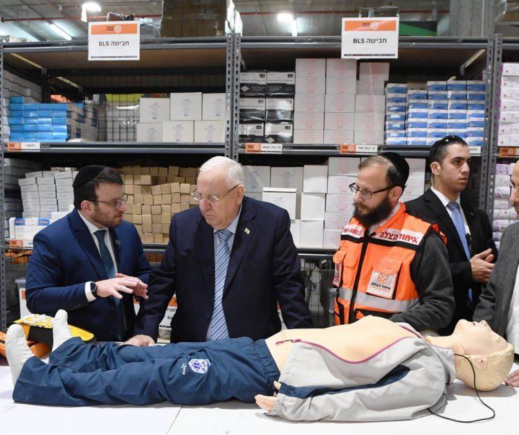 President Rivlin visiting United Hatzalah II – 10 January 2019