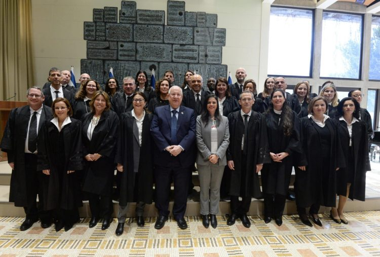 President Rivlin with new judges