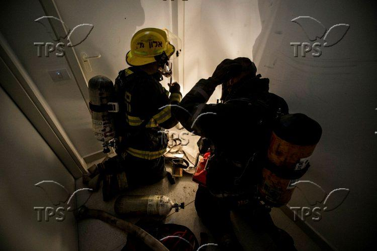 Israel Fire and Rescue drill in Bat Yam