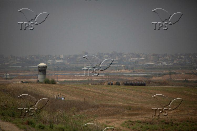 An IDF outpost at Gaza Envelope