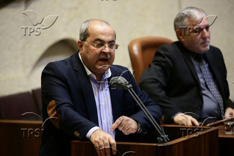 Session for the vote to dissolve Israeli parliament