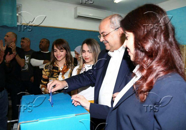 MK Ahmad Tibi votes