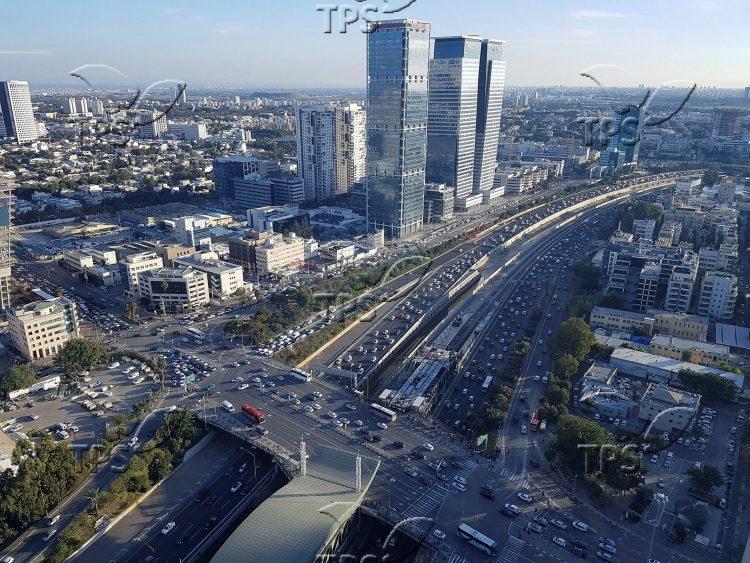 View of Tel Aviv South East of Azrieli Towers