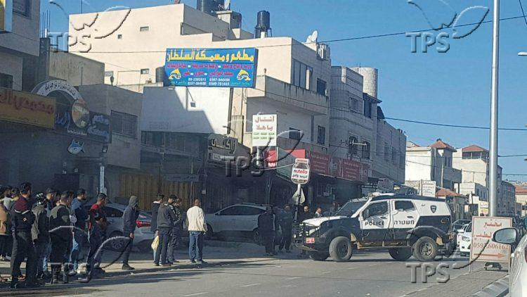 A car accident near the Arab Village Huwwara