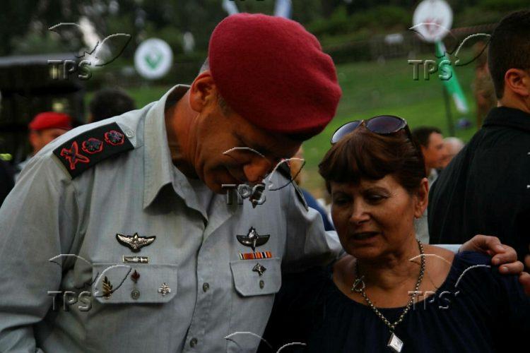 Ceremony at the Nachal Brigade memorial site