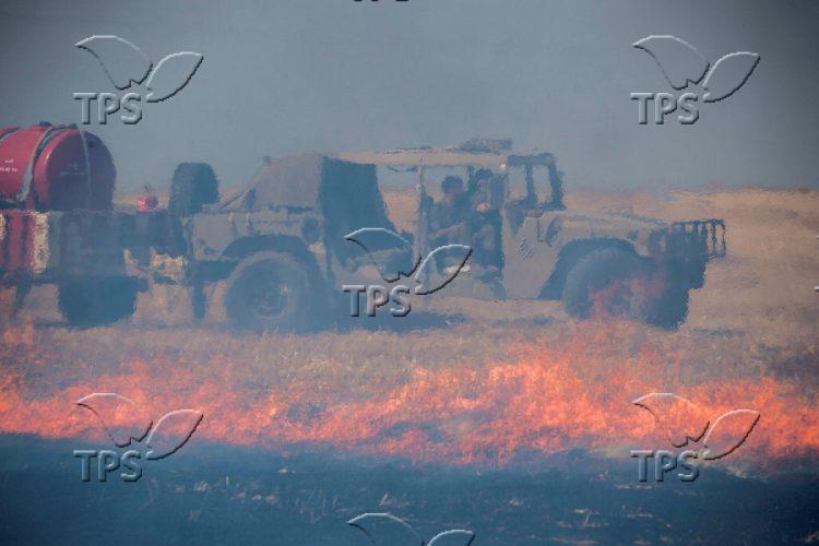 Fire near Kibbutz Kefar Azza
