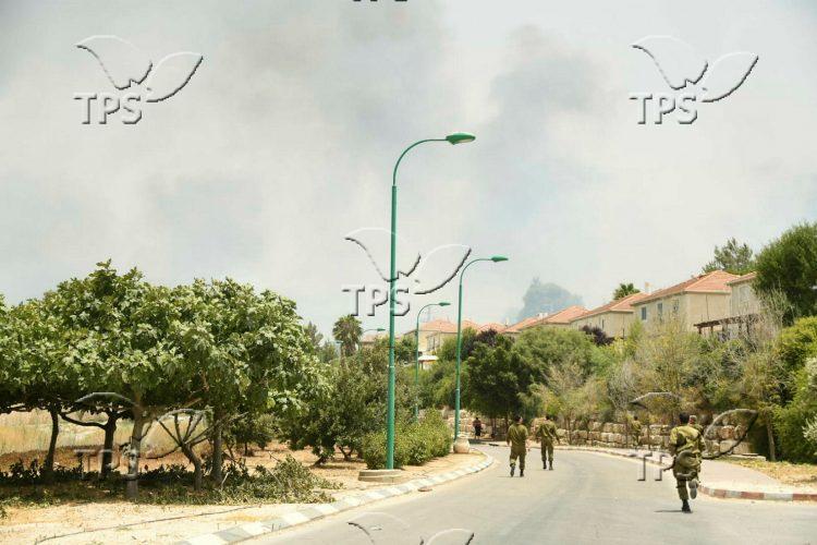 Fire at Shavei Shomron