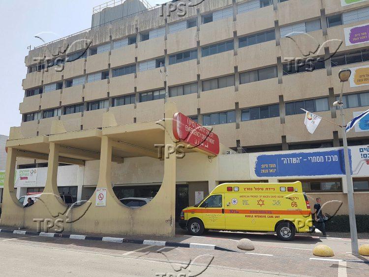 Ambulances at Hillel Yaffe Hospital