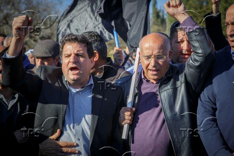 A demonstration against demolitions of Arab Israeli homes