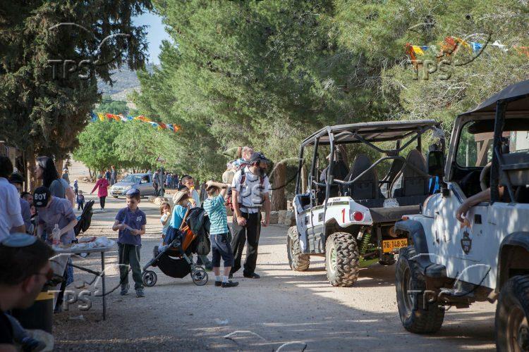 Israeli Families Visiting Ancient Shiloh