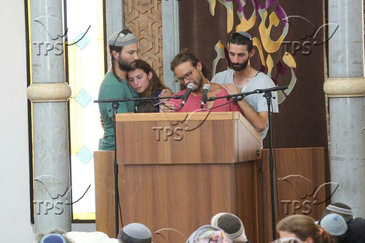 Funeral of Terror Victim Rabbi Michael Mark