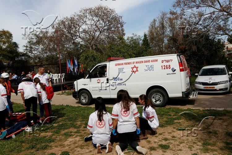 Emergency drill at Branco Weiss School