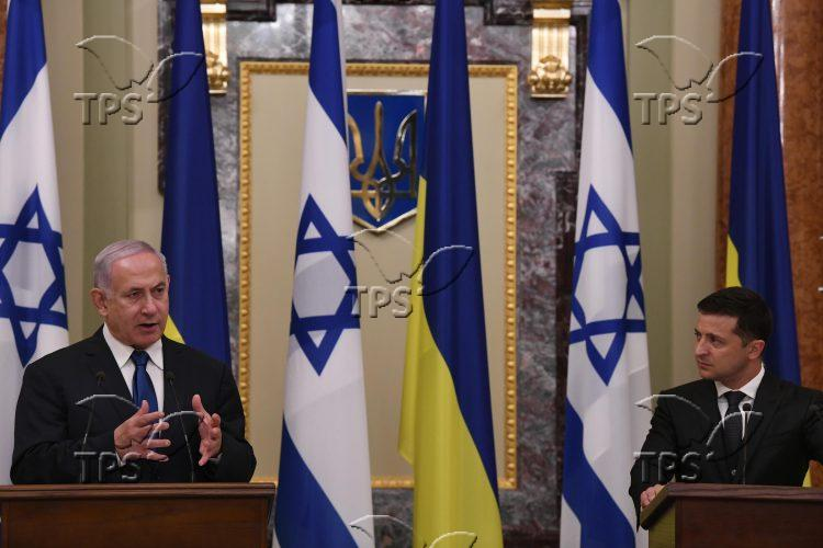 PM Netanyahu & Ukraine Pres. Volodymyr Zelensky