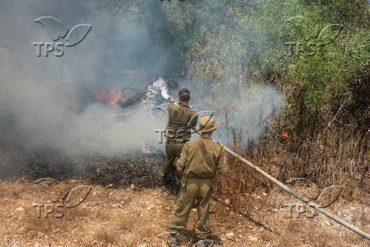 Fire near Kibbutz Saad