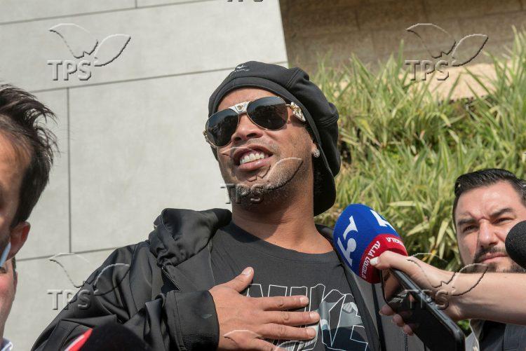 Brazilian soccer superstar Ronaldinho in Israel