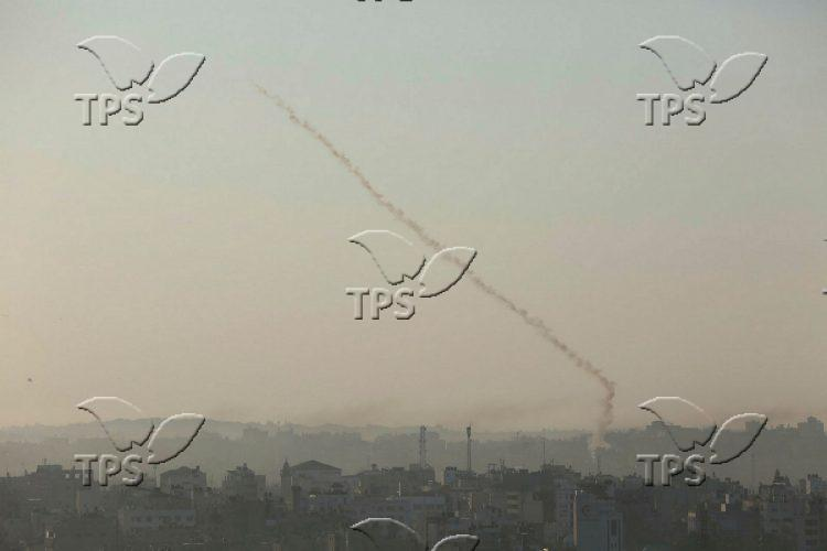 Rockets attack from Gaza Strip into Israel
