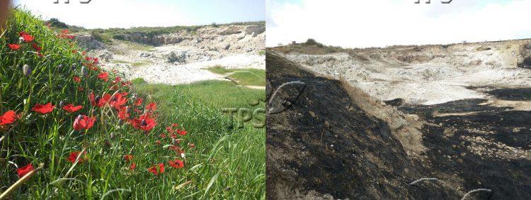 Fire near Kibbutz Be'eri in the Negev