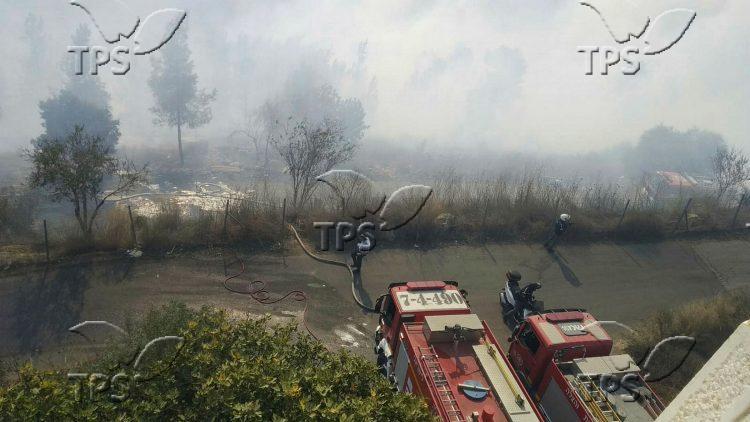 Fire at Mevasseret Ziyyon