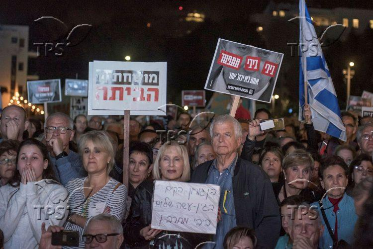 Protest against Prime Minister Benjamin Netanyahu