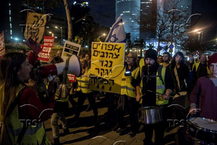 The yellow vests protest in Tel Aviv