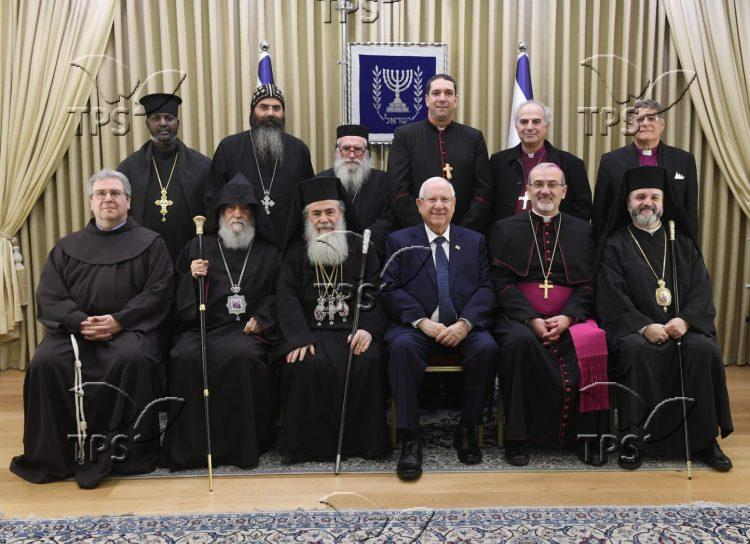 President Rivlin with Christian leaders – 30 December 2019 (1)